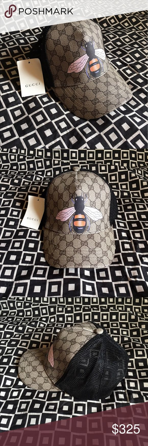 Gucci GG Bee Print Hat!!! Gucci GG Bee Print Baseball Hat!!!  Brand New!!!  Unisex...For Man Or Woman!!!  Adjustable Strap!!!  Comes Gucci Gift Box!!!  Great Gift Idea!!!  Last Available!!!  Check My Listings For Other Great Items!!!             Ignore: Gucci gg monogram casual dress men's women's guccissma leather monogram web tiger bee embossed panther wool cable knit blooms supreme print angry cat ufo dragon studded snake double g tigers fitted SnapBack cap Gucci Accessories Hats
