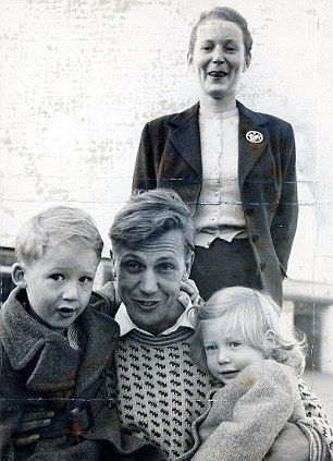 David Attenborough with his wife Jane, who died in 1997, and their two children Robert and Susan