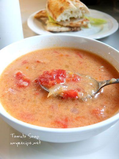 カリフォルニアのばあさんブログ : 完熟トマト缶でクリーミーなトマトスープ