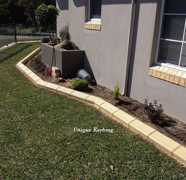 Colours That Work The Colour Of Our Limestone Glazed Continuous Concrete Garden Edging Kerbing With Br Concrete Garden Edging Concrete Garden Garden Edging