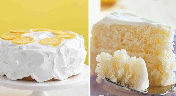 Citronový dort s polevou ze smetany snadno a rychle