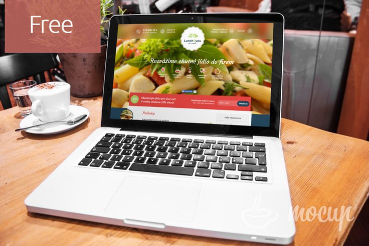 Free PSD photorealistic Macbook Pro Mockup on table in restaurant. Easy to edit. You can just usesmart layers to place your design. Parametres   ...