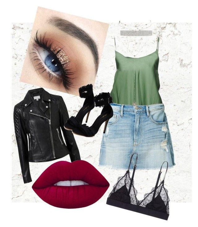 """""""VIP"""" by tigajiek on Polyvore featuring MM6 Maison Margiela, Frame, Charlotte Russe, Witchery, LoveStories and Lime Crime"""