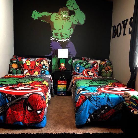 Decoracion De Superheroes Para Habitaciones Dormitorios