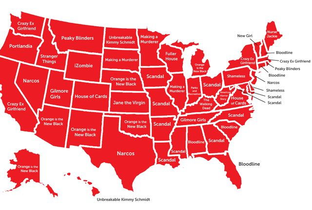 The Most Popular Netflix Show in Each State