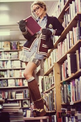I could see Allie taking a picture in the Library for her senior portraits