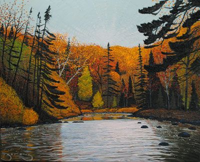 Harvest Trail - painting by Mark Berens at Crescent Hill Gallery