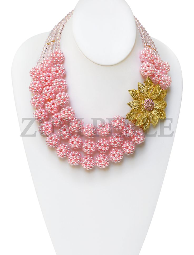 Zuri Perle - ZPPI206 - Pink Pearl Beads African Nigerian Wedding Statement Necklace Set, $220.00 (http://www.zuriperle.com/women/zppi206-pink-pearl-beads-african-nigerian-wedding-statement-necklace-set.html/)