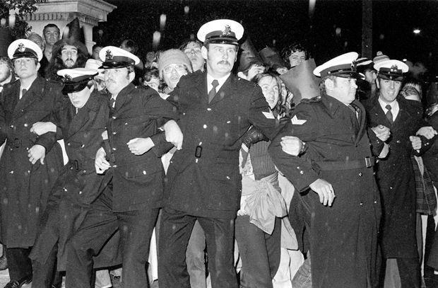 Whitlam Dismissal protest, Melbourne 1976