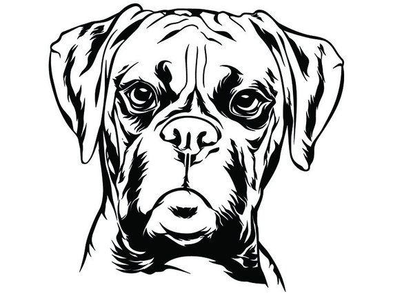 Boxer 5 Dog Breed K 9 Animal Pet Hound Pedigree Canine Logo Etsy Boxer Dogs Dog Clip Art Boxer Dogs Art
