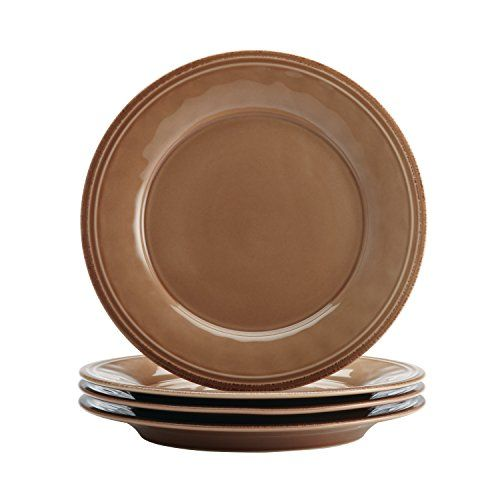 Rachael Ray Cucina 16-Piece Stoneware Dinnerware Set, Mushroom Brown. For product & price info go to:  https://all4hiking.com/products/rachael-ray-cucina-16-piece-stoneware-dinnerware-set-mushroom-brown/