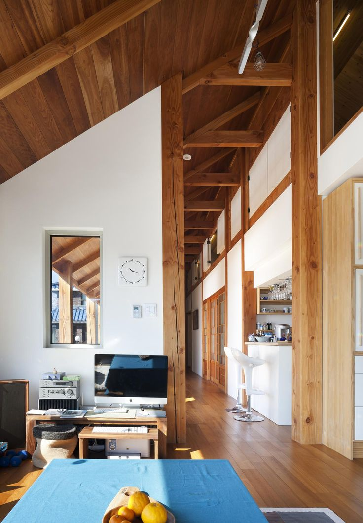 Interior of a wooden house built with traditional architectural elements, Sokcho City, Gangwon Province, South Korea [2000×2881]