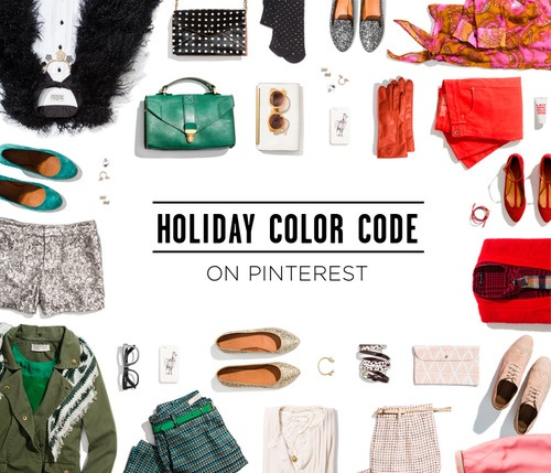 Truth be told, we plan to spend a lot of the holidays in our pajamas, pinning our favorite finds to Pinterest. In fact, we've already pretty much fallen down the rabbit hole. Check out our new, superfestive Holiday Color Code board.