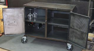 Real Industrial Edge Furniture llc: Small industrial media cabinet