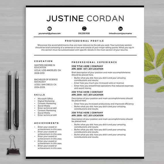 19 best Resume Templates Microsoft WORD images on Pinterest - how to get resume templates on microsoft word