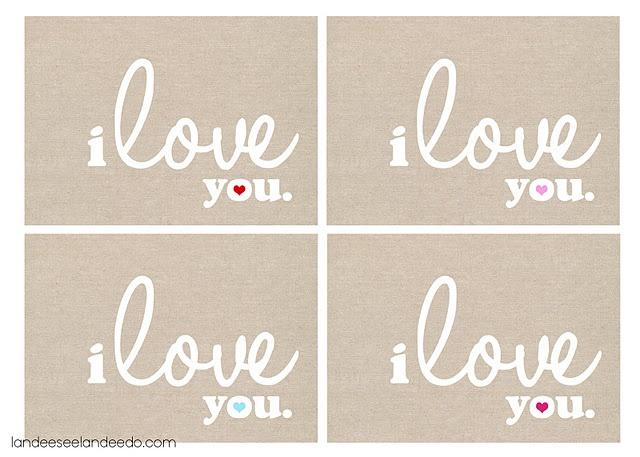 i love you 5x7
