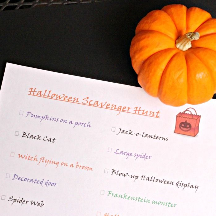 Free Printable Halloween Scavenger Hunt - Edventures with Kids