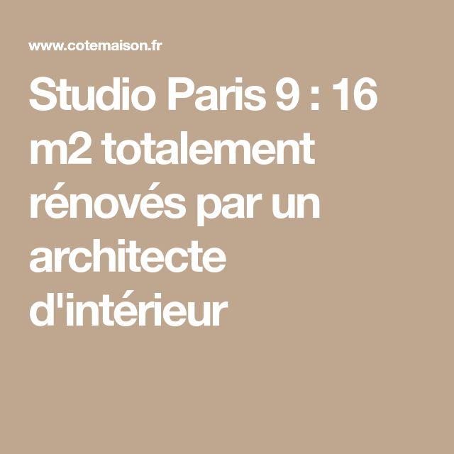 Studio Paris 9 : 16 m2 totalement rénovés par un architecte d'intérieur