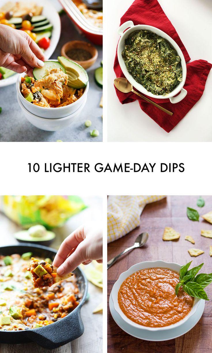 10 Lighter Game Day Dips