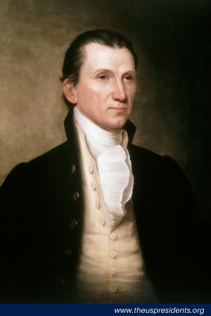 """5th US President James Monroe was the last American President of the """"Virginia Dynasty""""—of the first five men who held that position, four hailed from Virginia. Monroe also had a long and distinguished public career as a soldier, diplomat, governor, senator, and cabinet official."""