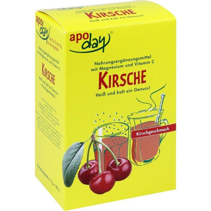 APODAY Kirsch Magnesium+Vitamin C Pulver:   Packungsinhalt: 10X10 g Pulver PZN: 04833211 Hersteller: WEPA Apothekenbedarf GmbH & Co KG…