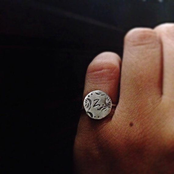 Personalized Chavalier/ Mid finger Ring