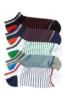 NEXT, Five Pack Stripe Trainer Socks