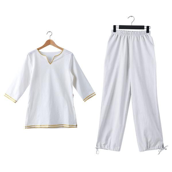 FREE SHIPPING, Women's Cotton Linen Clothes Yoga Clothes Suit Zen Buddhist Breathable Clothing