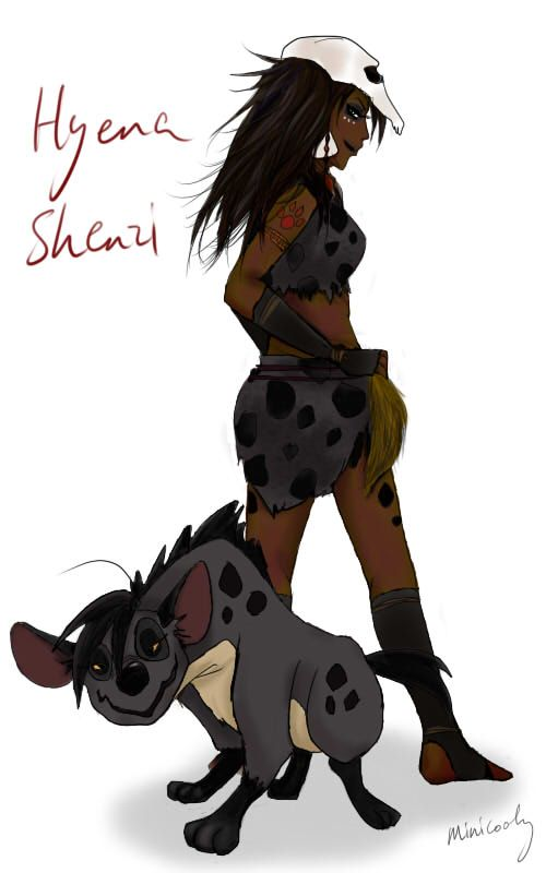 Hyena Shenzi and humanized