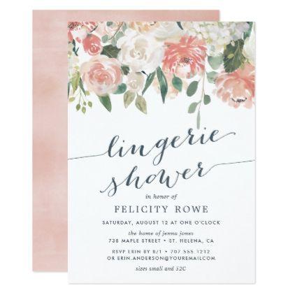 #bridal #shower #invitations - #Midsummer Floral | Lingerie Shower Invitation