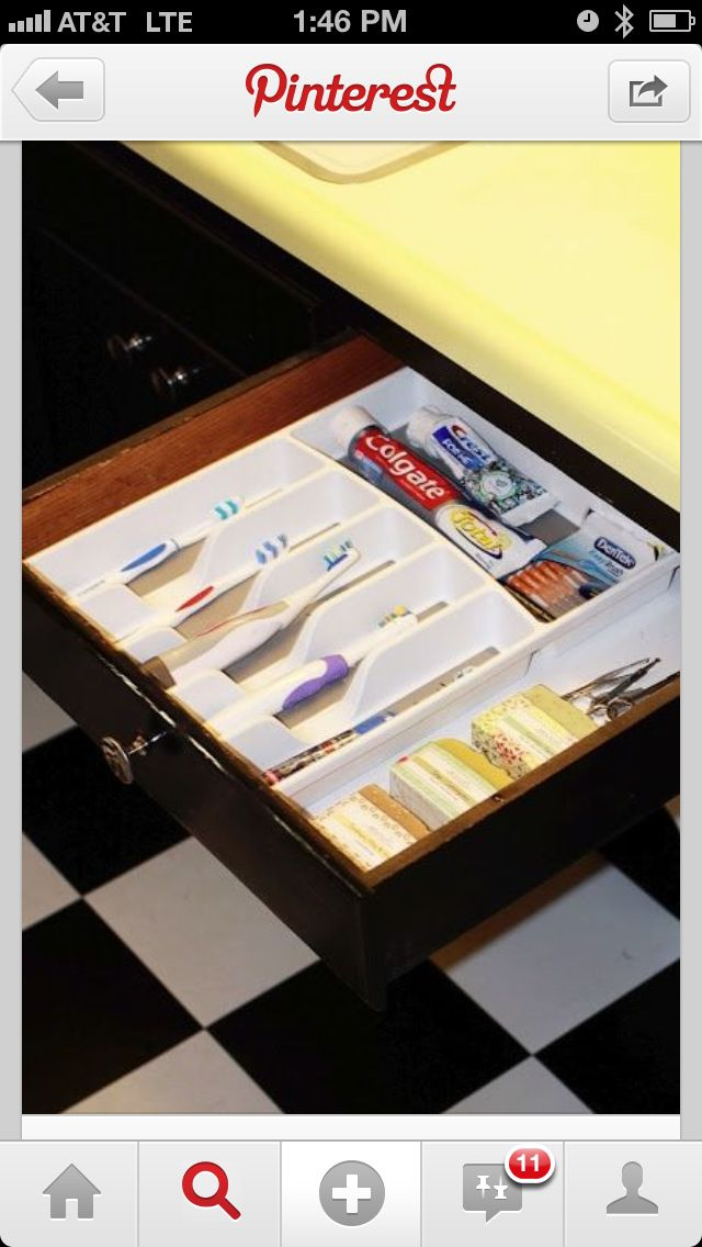 A sanitary way to store toothbrushes and keep your sink from clutter