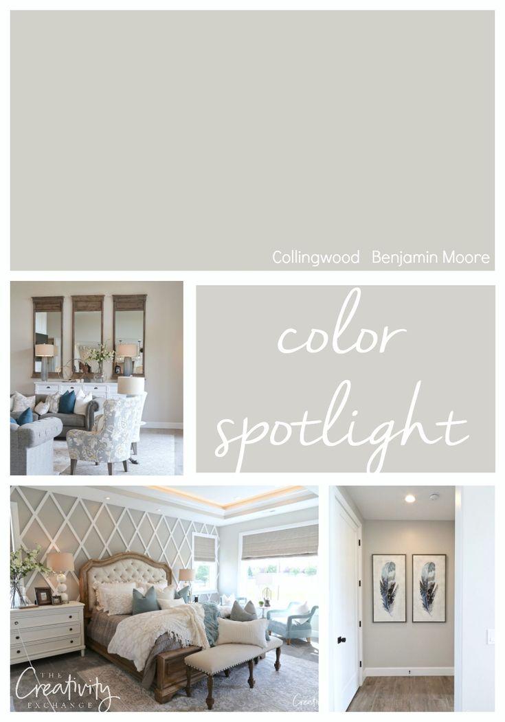 Benjamin Moore Collingwood Color Spotlight Interior House Colors Room Paint Bedroom
