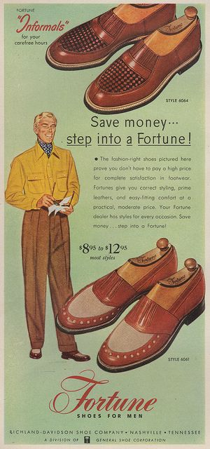 Fortune shoes, 1953. He is damn suave!
