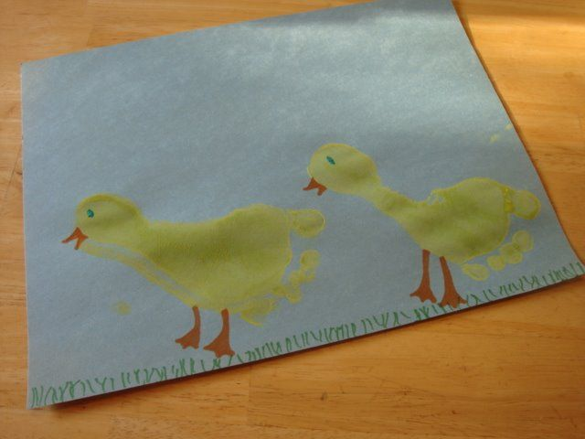 44 best dynamic ducks images on pinterest for Hand and foot crafts