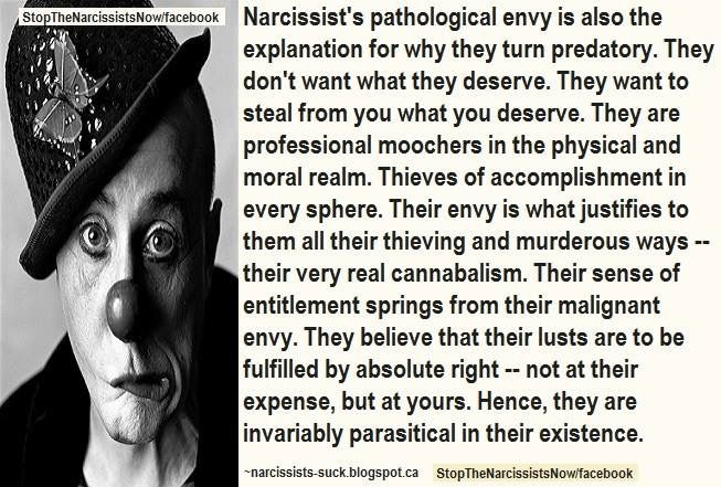 Narcissists don't want what Thry deserve. They want what you deserve.