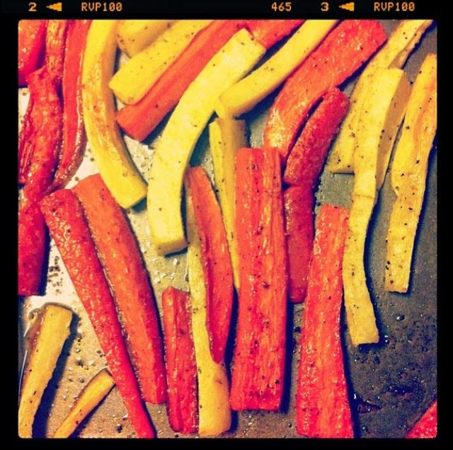 Spice Roasted Carrot Fries // made these last night; they were ...