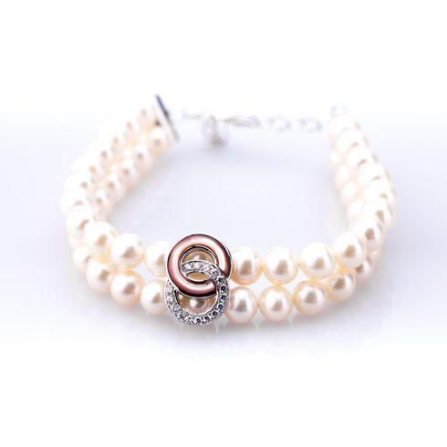 #Bijuterii cu perle Bratara din argint cu perle C184