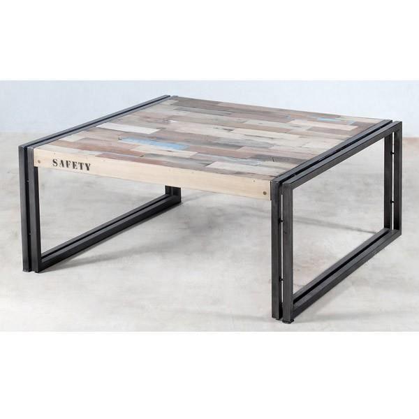 Table basse en bois 60 cm² - INDUSRTY L 60 x l ... - Achat / Vente table basse Table basse en bois 60 cm² ... - Cdiscount