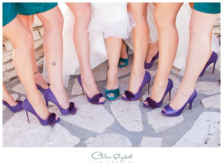 Bridal Party Shoes | Purple & Teal Wedding | La Venta Inn - Palos Verdes Estates, Ca Wedding | By: Chelsea Elizabeth Photography | chelseaelizabeth.com