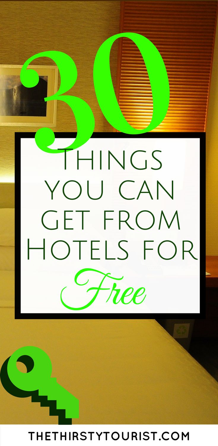 Staying in a hotel? Forgot something? Here are 30 items you can get for FREE from hotels in case you forgot something, want a more enjoyable stay or just so you can pack lighter and smarter.