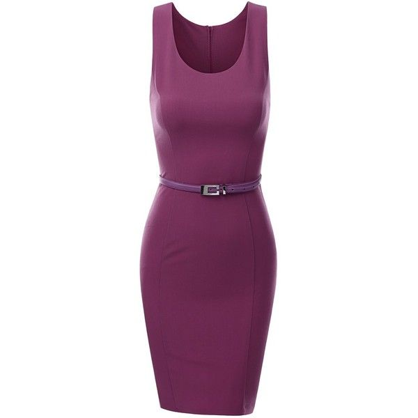 Doublju Women Sleeveless Midi Dress with Belt (115 BRL) ❤ liked on Polyvore featuring dresses, aztec, back ribbon medium, chevron, crisscross, aztec dress, mid calf dresses, purple cocktail dresses, purple sleeveless dress and chevron dress