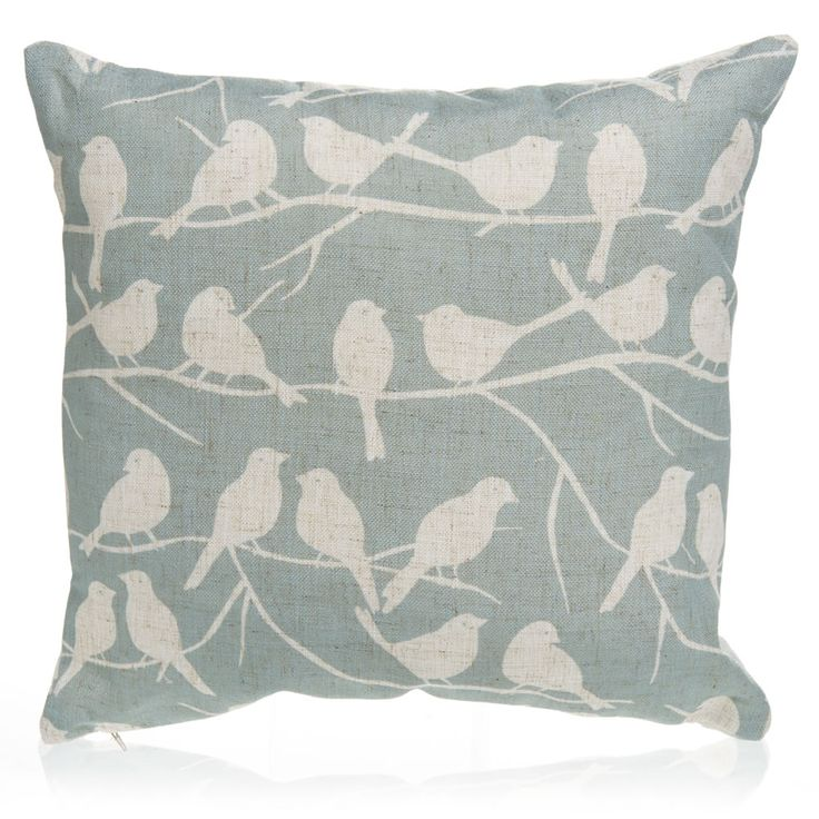 Wilko Birds Cushion Duck Egg 43x43cm