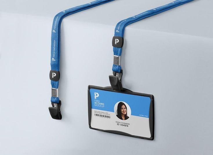 Free Lanyard Id Card Holder Mockup Psd Good Mockups In 2021 Card Holder Design Freebie Mockup Psd