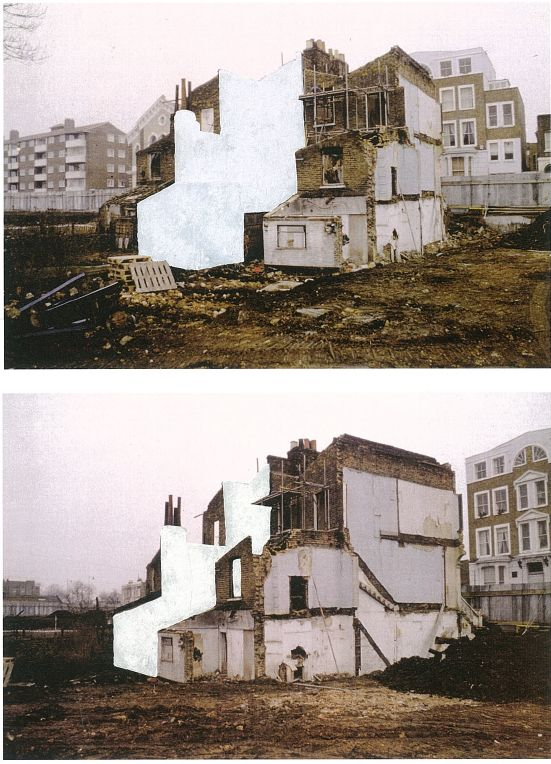 Rachel Whiteread House Study (Grove Road) 1992,    parts 3 & 4, both 29.5 x 42 cm   read about House
