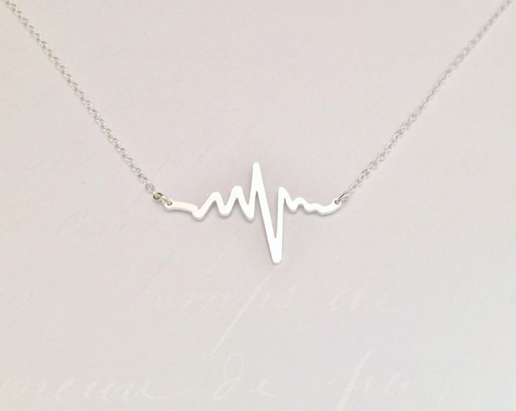 Electrocardiogram EKG Rhythm Heartbeat Necklace Gift for Doctor Nurse Firefighter Paramedic EMT Medical Gift by UniqueAnomaly on Etsy https://www.etsy.com/listing/244690920/electrocardiogram-ekg-rhythm-heartbeat