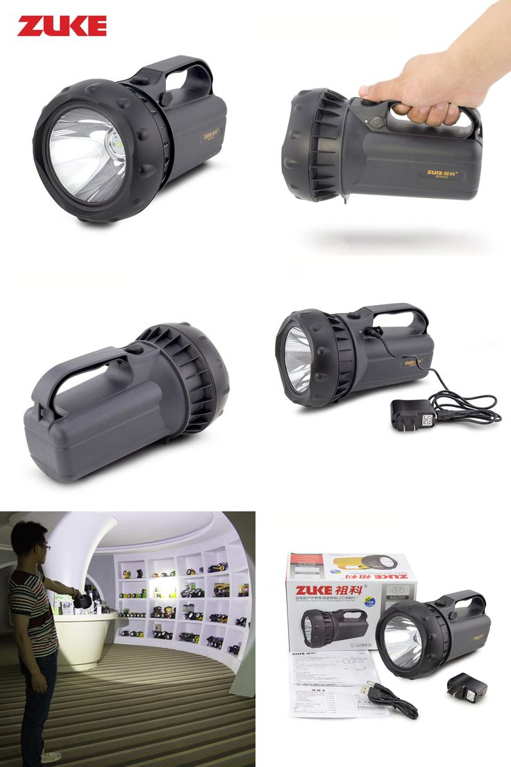 [Visit to Buy] ZUKE 15w Rechargeable Flashlight Led Spotlight Long-range Searching Lamp Super Bright Torch Outdoor Emergency Night Lamp #Advertisement