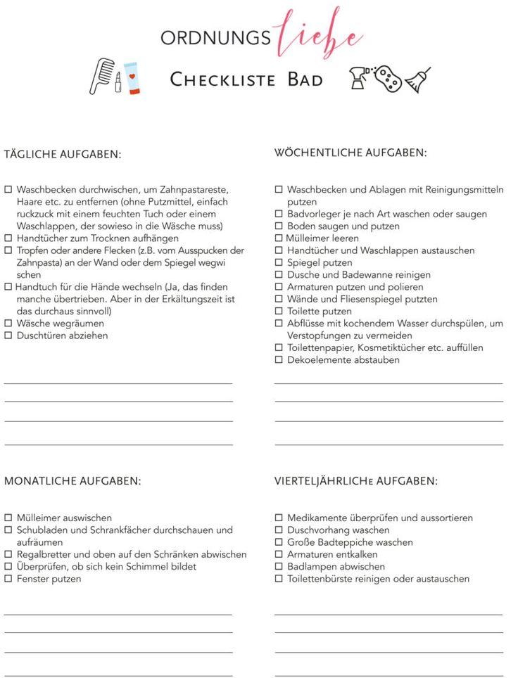 Checkliste Für Den Frühjahrsputz Im Bad