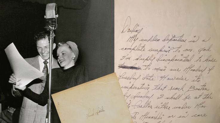 Judy Garland's love letter to Frank Sinatra is up for auction.