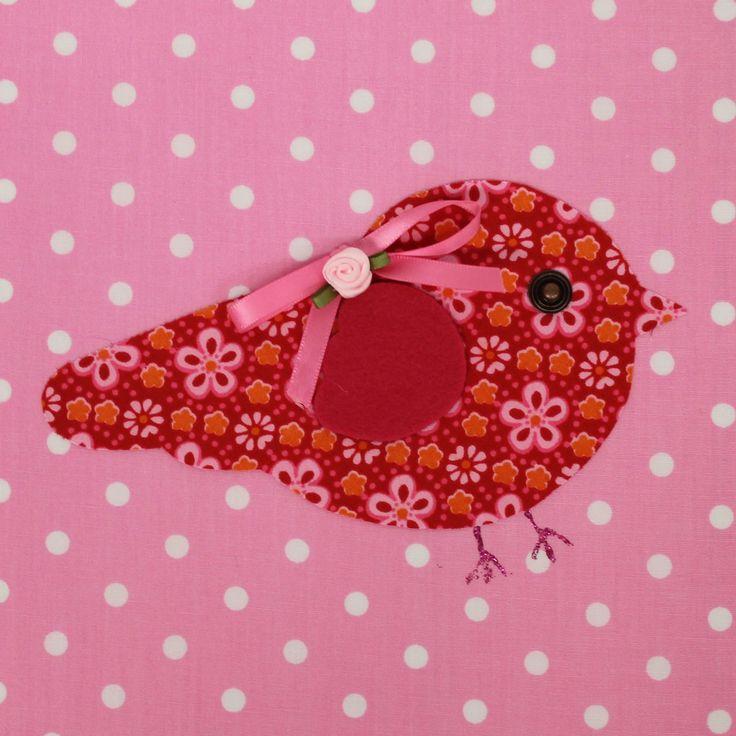 Tableau Candy Colours Bye Bye Birdie rose (20 x 20 cm) : Moepa - Petit tableau < 30 cm - Berceau Magique