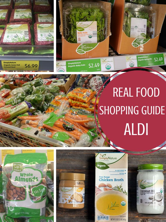 I recently heard that Aldi sells a good amount of organic food, so I figured I'd check it out for myself. Below is a real food shopping guide for Aldi. You probably won't be able to do all of your grocery shopping there, but it's worth a trip if you're looking to save money.